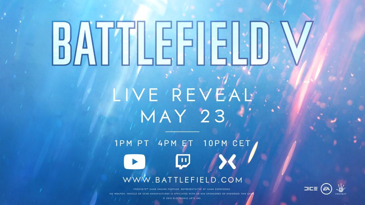 Známe přesný čas odhalení Battlefieldu V battlefield V