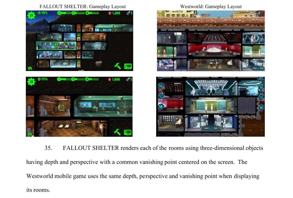 Bethesda zažalovala Warner Bros. kvůli hře Westworld Mobile Fallout Shelter a Westworld Mobile