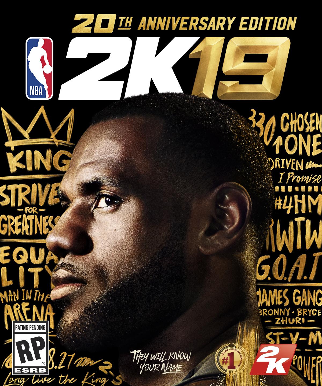 Hvězdou NBA 2K19 je LeBron James NBA2K 20thAnniversaryCover WebReady