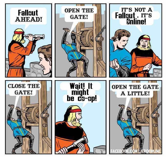 Komunitní ptákoviny, aneb LEGO Dark Souls nebo plavání k nebi open gate fallout 76