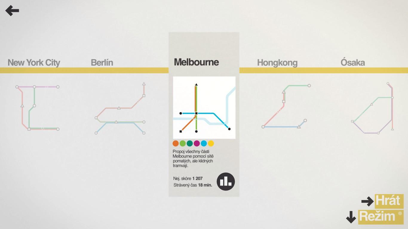 Mini Metro – minimalistická strategie 13197