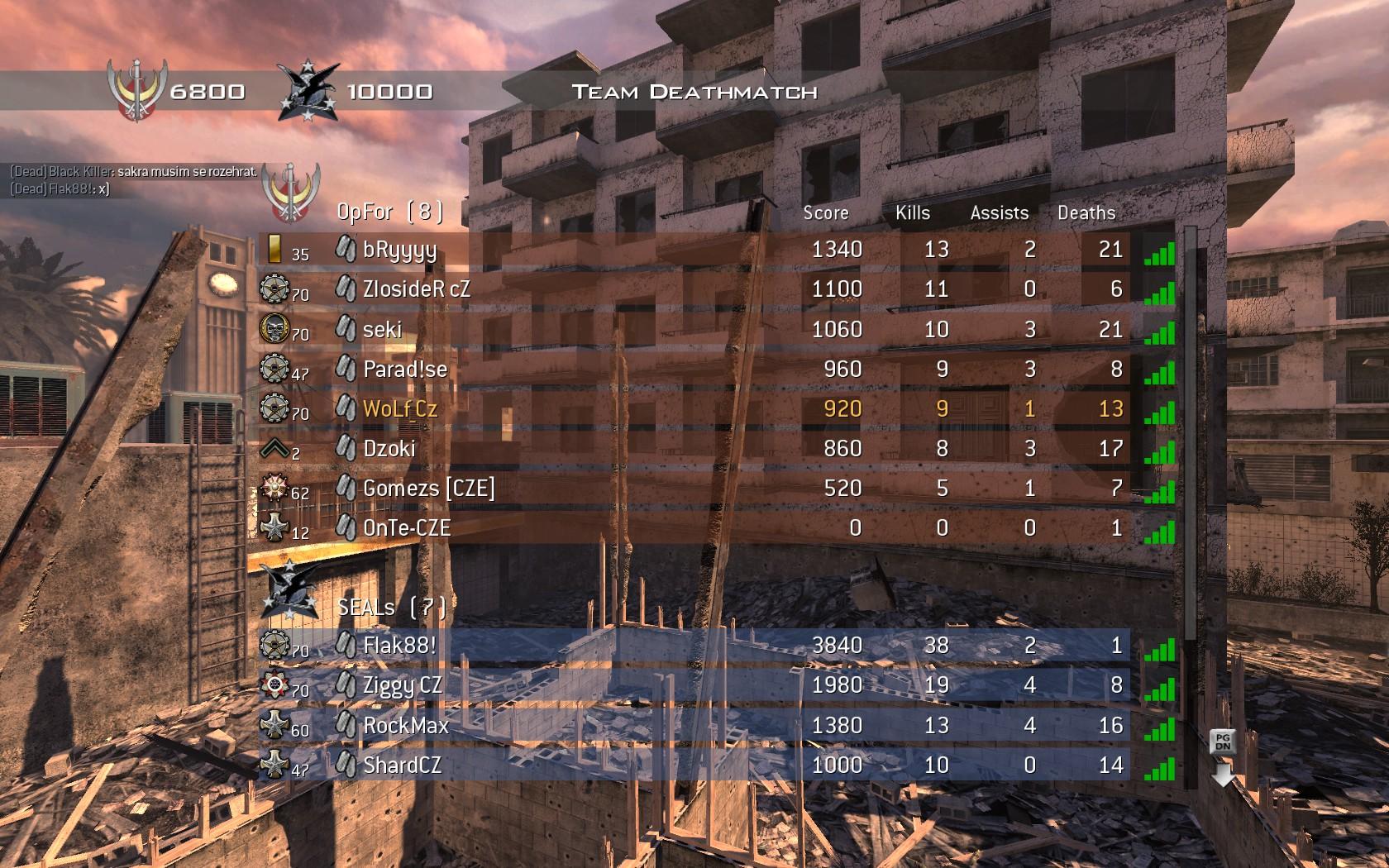 Modern Warfare 2 - třetí komunitní match 3975
