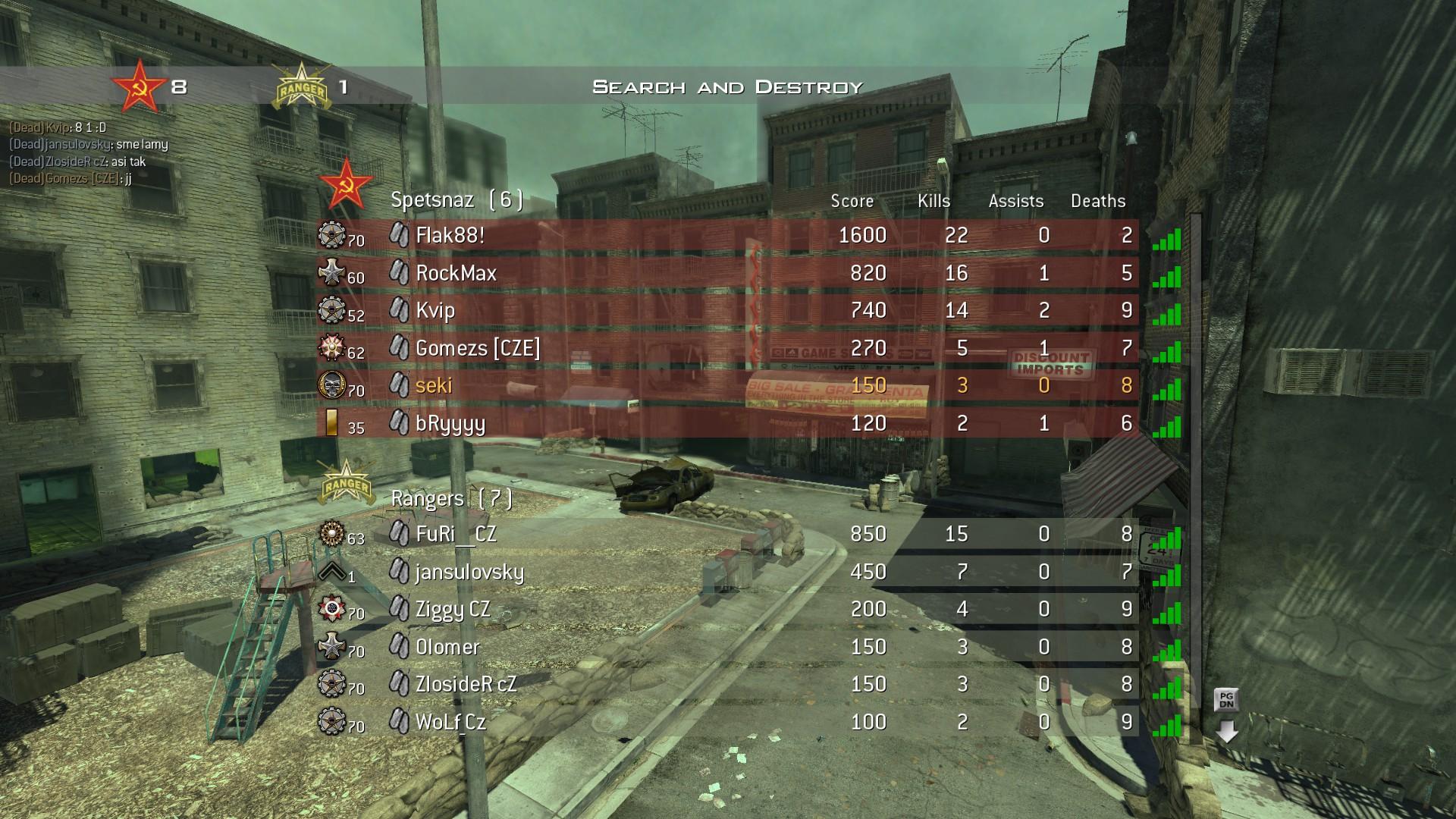 Modern Warfare 2 - třetí komunitní match 3992