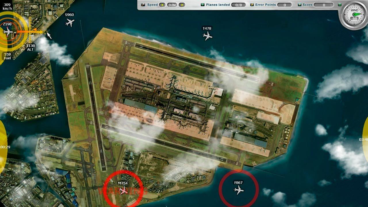 Airport Control Simulator ...tady AS 736 žádáme o povolení na přistání 5981