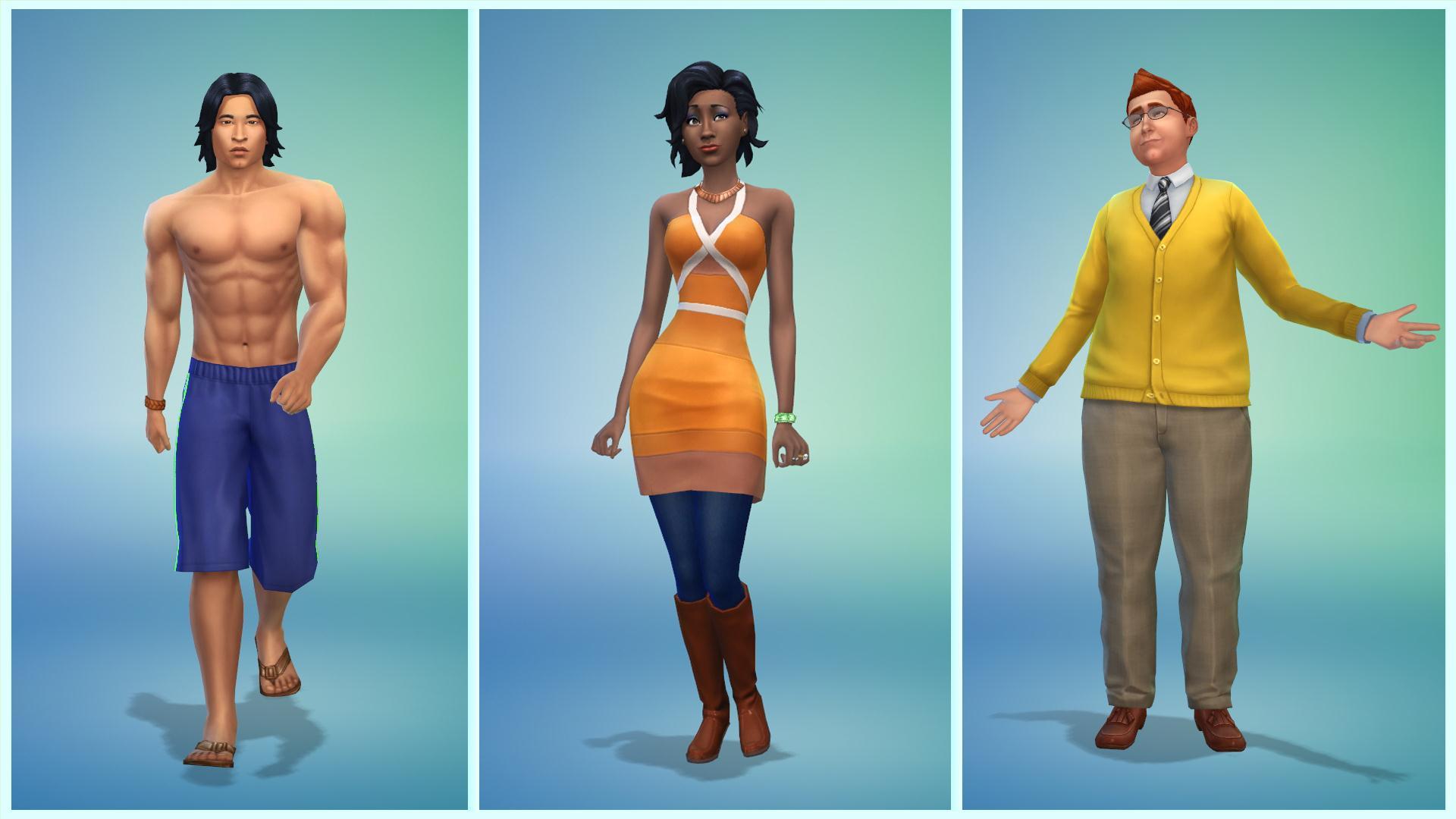 První pohled na The Sims 4: Editor postav 9296