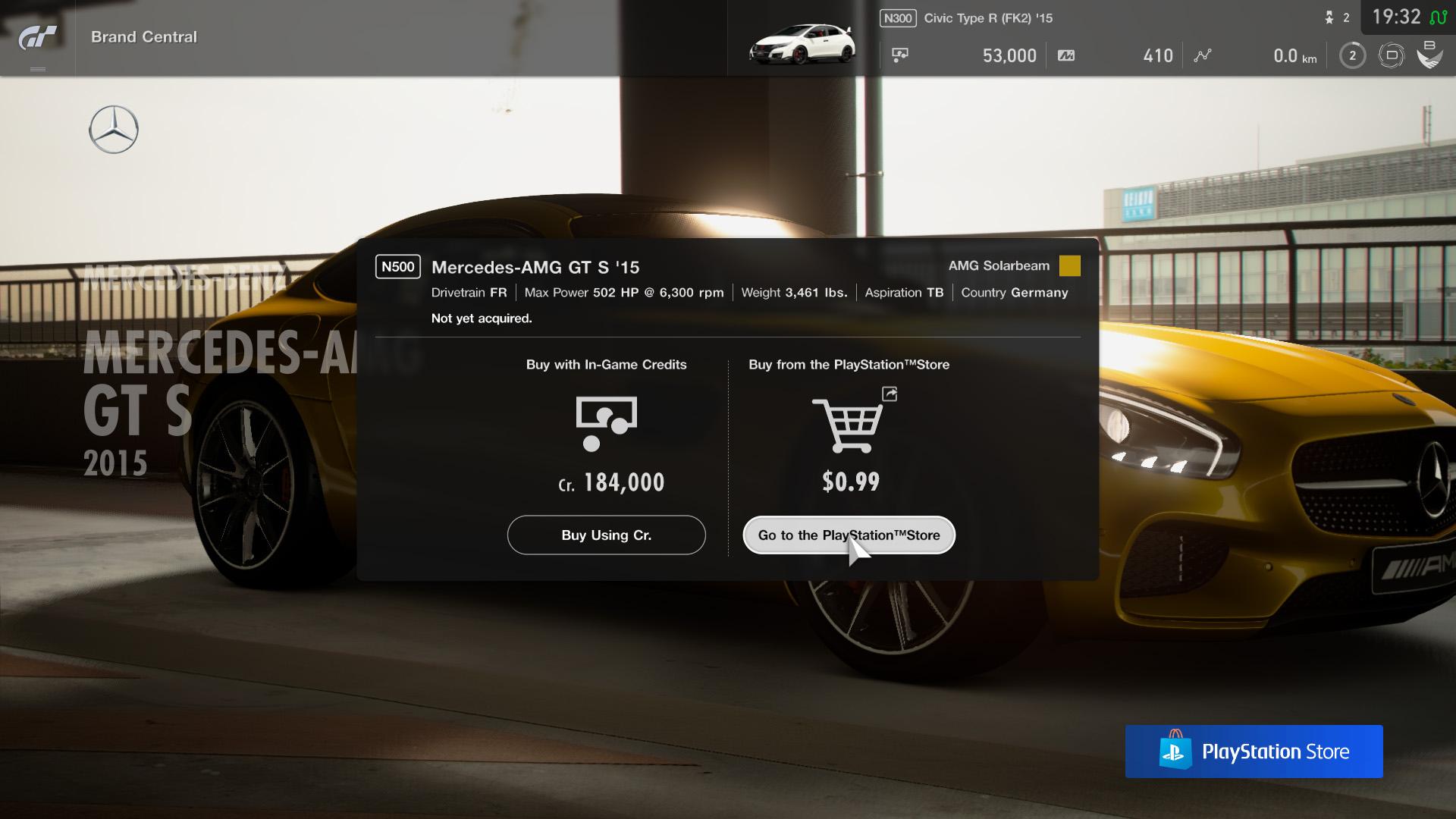 Nová trať, Mercedes F1 a mikrotransakce v Gran Turismu Sport GT Sport Mikrotransakce