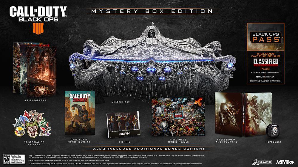 Call of Duty: Black Ops 4 s tajemným boxem a dalším lákáním na zombíky Mystery Box Call of Duty Black Ops 4