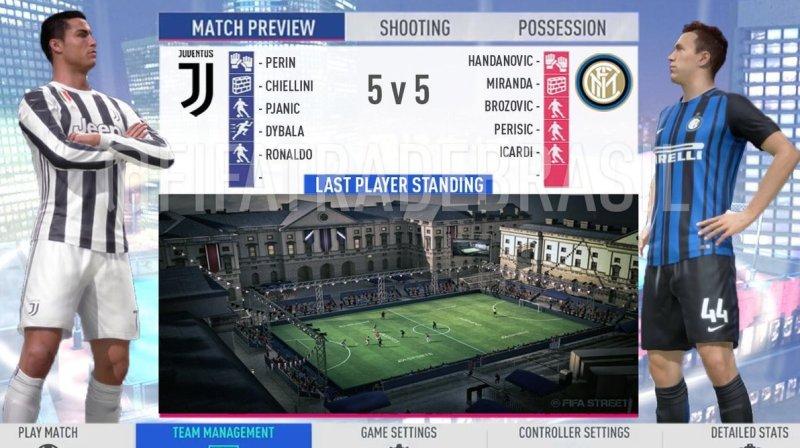 Pět na pět ve stylu FIFA Street ve FIFA 19? FIFA 19 FIFA Street 1