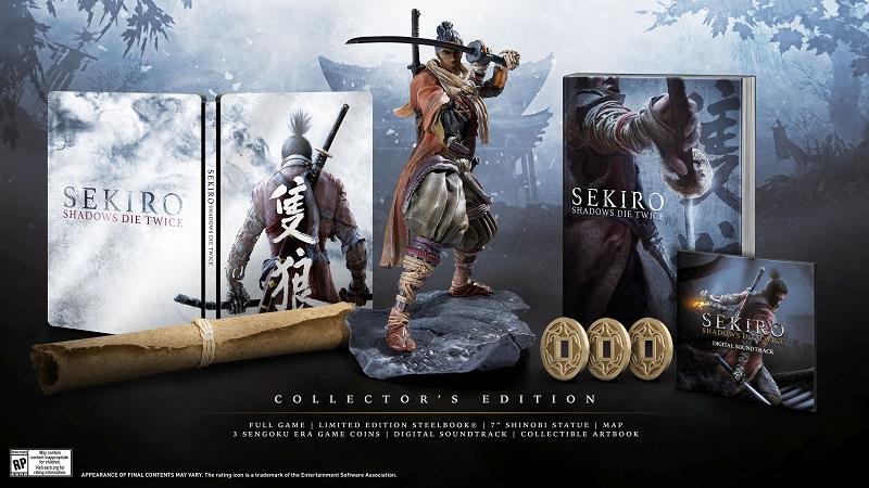 Sekiro: Shadows Die Twice odhalilo datum vydání, sběratelskou edici a gameplay. Sekiro sberatelska edice