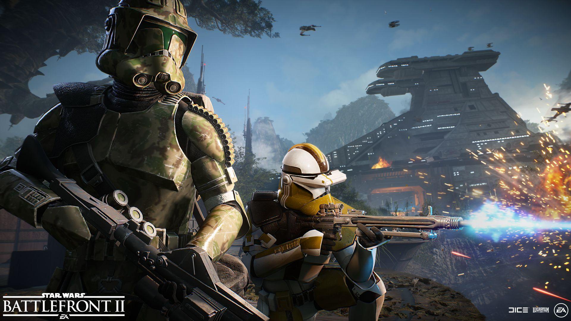 Srpnová aktualizace Star Wars: Battlefrontu 2 přidá jen dva skiny klonů battlefront 2
