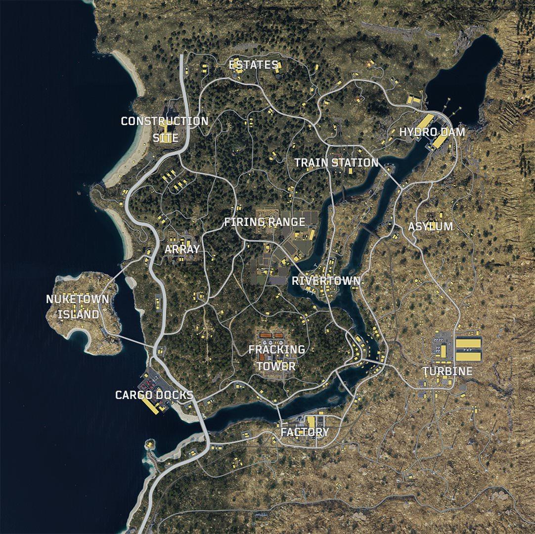 Takhle vypadá mapa Blackout módu Call of Duty: Black Ops 4 Call of Duty Black Ops 4 mapa Blackout