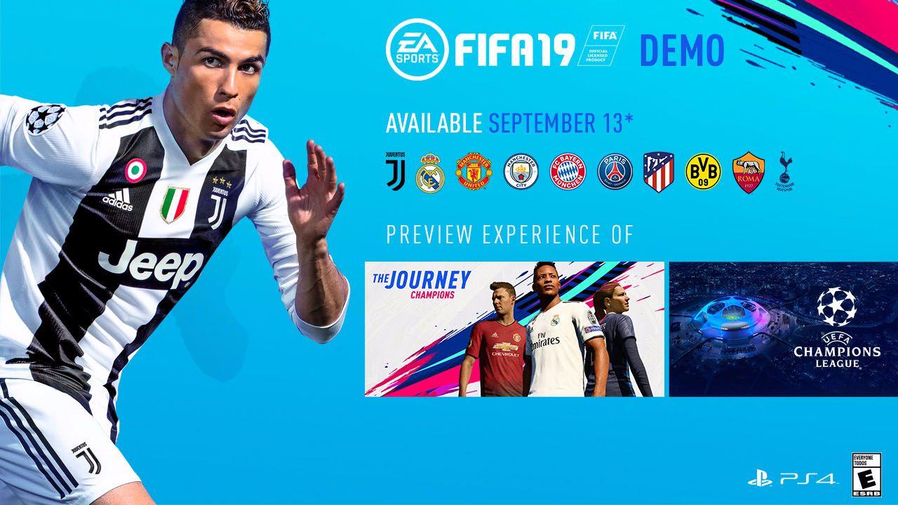 Dnes vyšlo demo FIFA 19 FIFA 19 demo