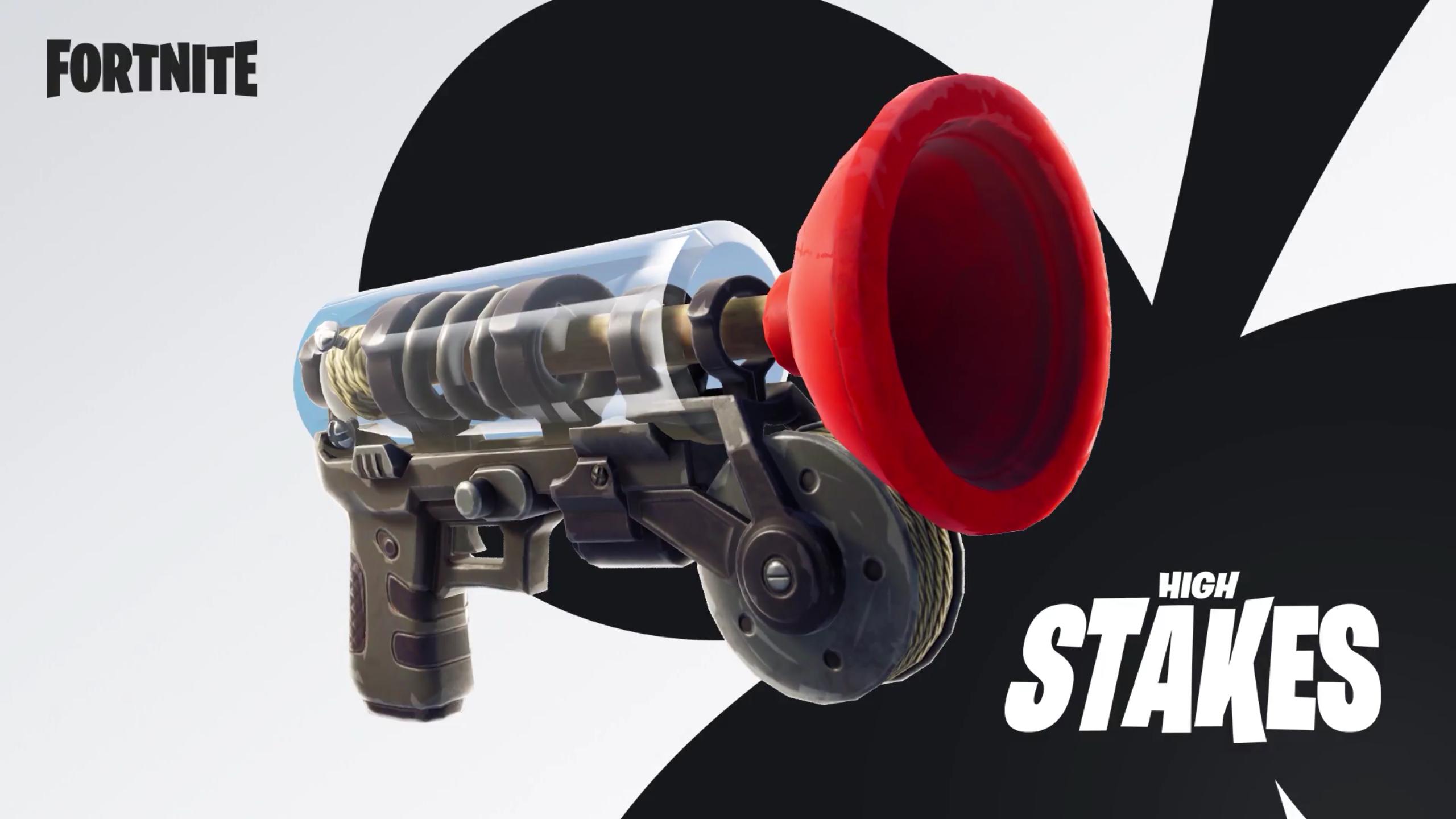 Fortnite dostane přitahovací hák ve stylu Just Cause Fortnite zbran