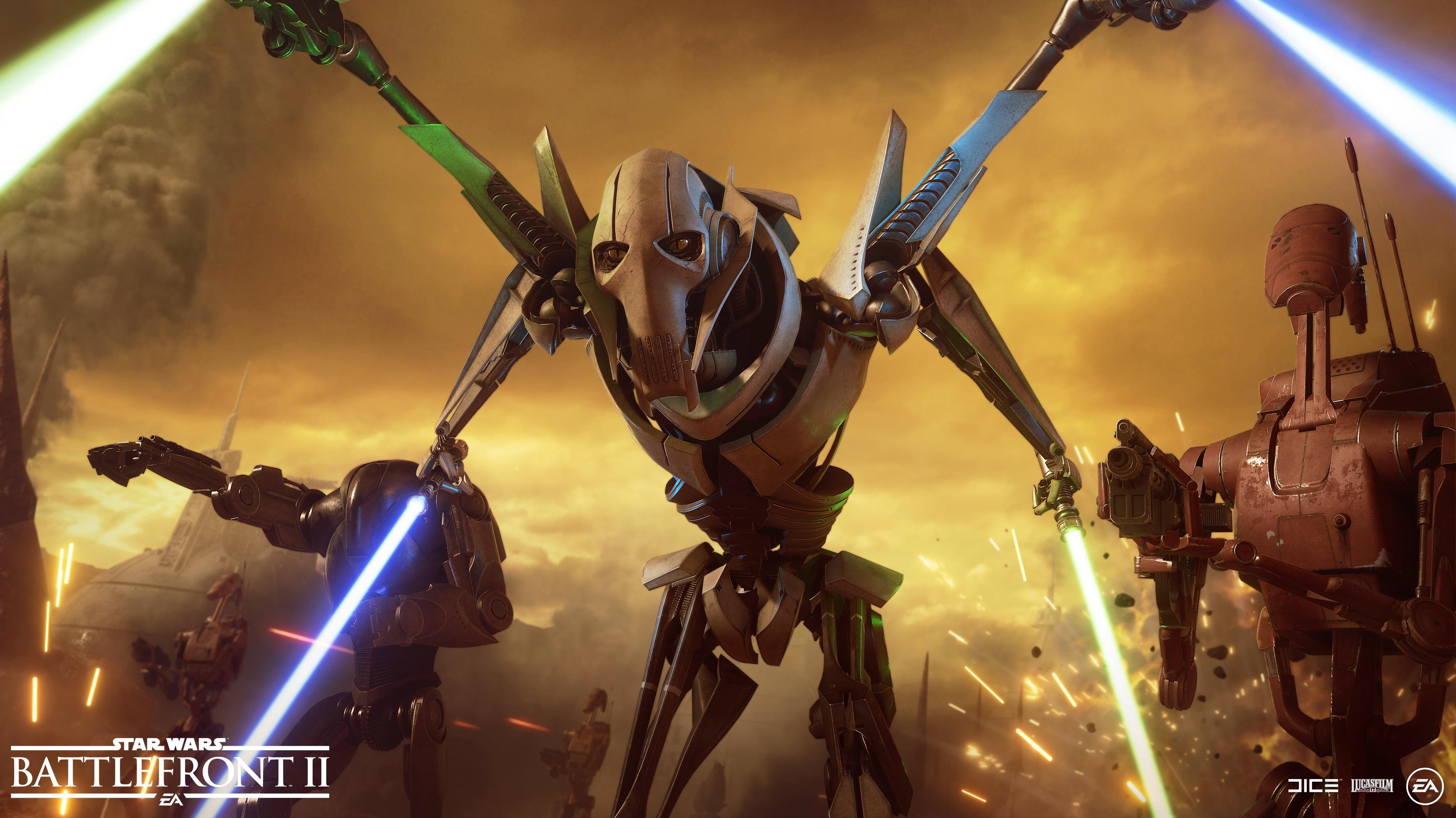Detailnější pohled na generála Grievouse ve Star Wars: Battlefrontu 2 Battlefront2 Grievous