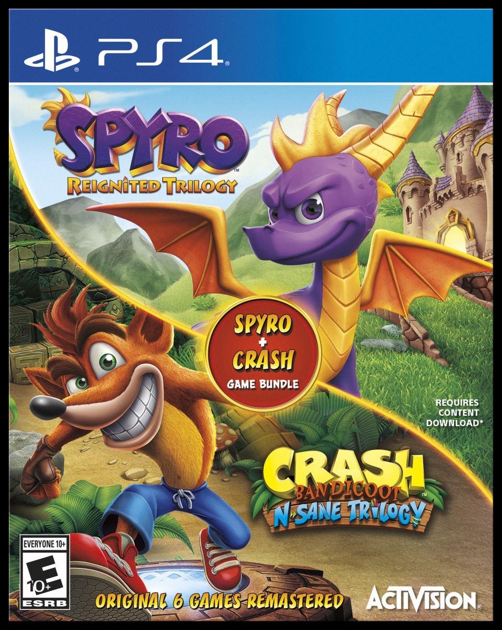 Kolekce Spyra a Crashe v jednom balení Spyro a Crash kompilace