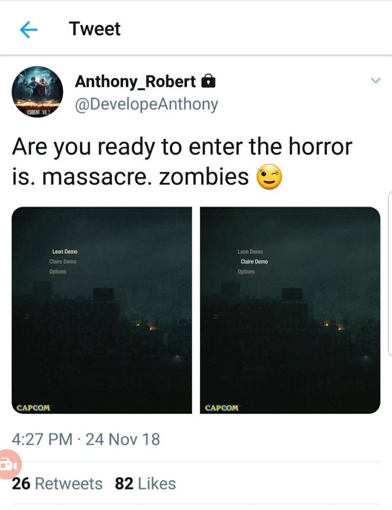 Remake Resident Evil 2 má mít dvě demoverze 20181126 1923518893366628964944285