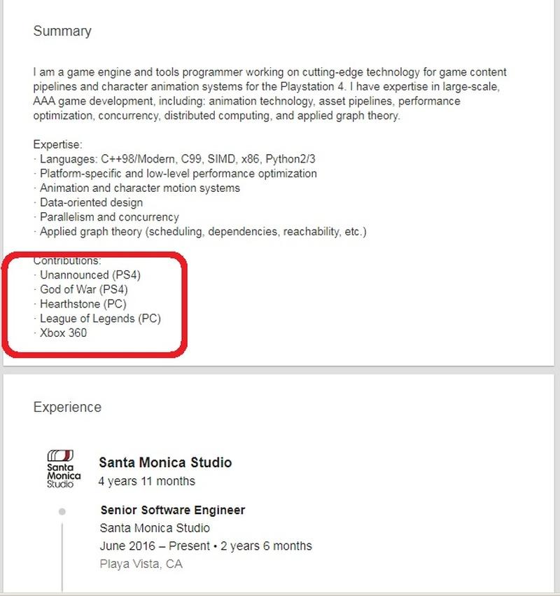 V Santa Monice připravují tajnou hru pro PS4 God of War 2 Sony