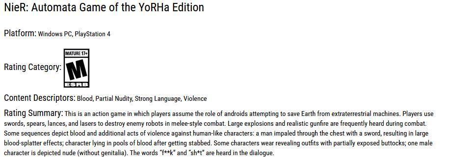 Kompletní edice hry NieR: Automata vyjde v únoru NieR Automata Game of the YoRHa Edition