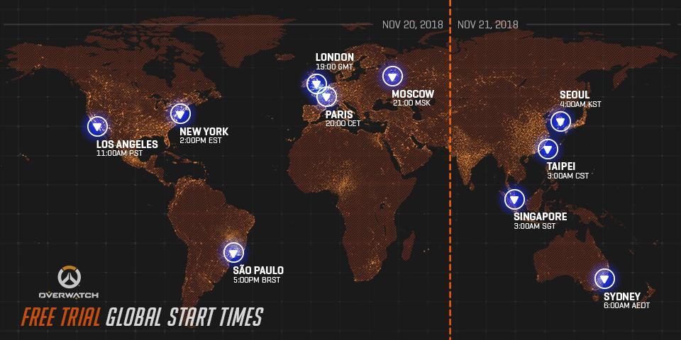 Vyzkoušejte si Overwatch zdarma Overwatch free time