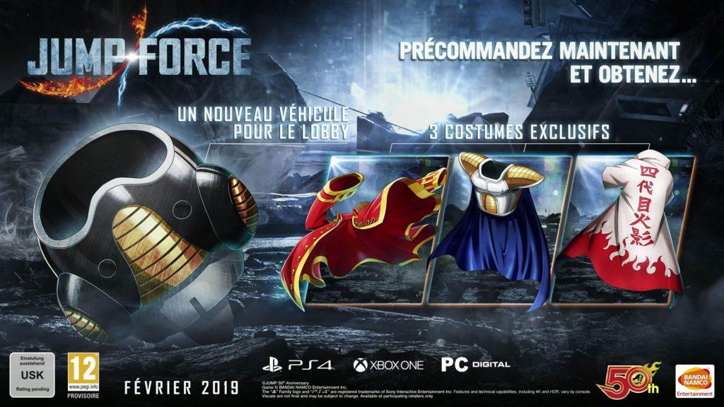V jakých edicích vyjde Jump Force a co za předobjednávku hry jump force ed 01