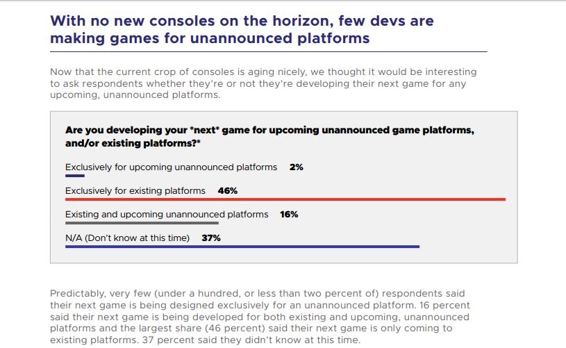 18 procent vývojářů pracuje na hrách pro novou generaci konzolí GDC pruzkum next gen