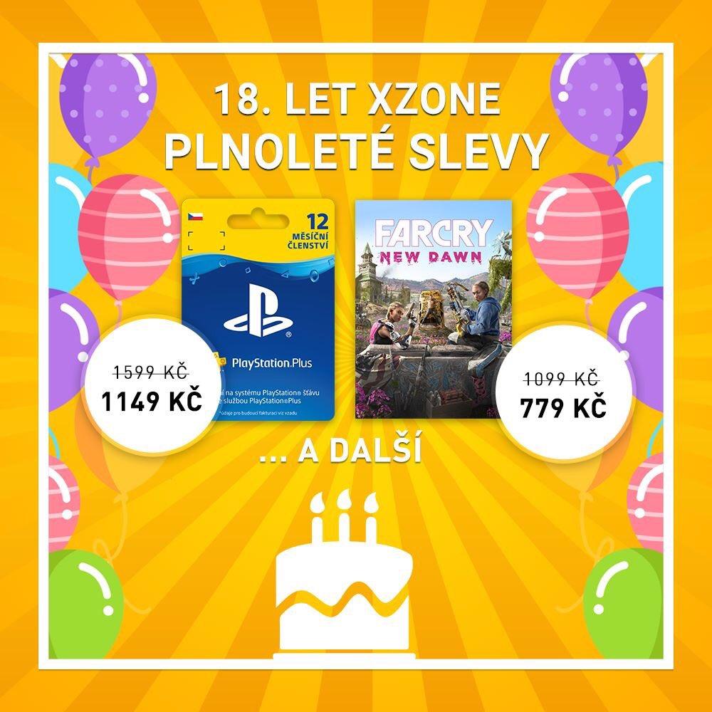 Xzone slaví 18. narozeniny. Oslavujte s námi. Máme pro vás slevy 18 let Xzone banner