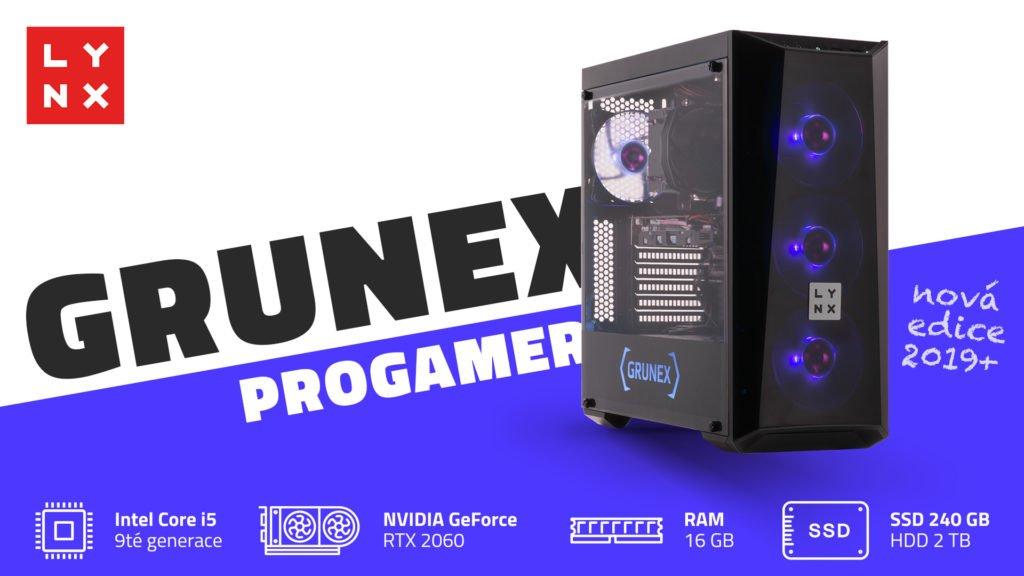 Stolní počítač za 30k s RTX grafikou a co cena železa? ilustrace lynx grunex progamer 2019plus