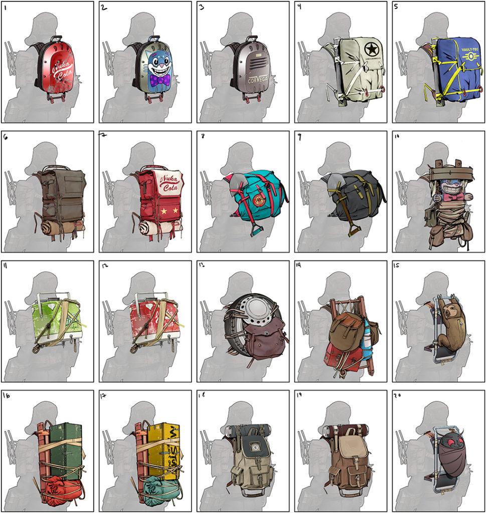 Fallout 76 obohatí systém batohů nebo zkrášlování C.A.M.P.u Fallout76 BackpackConcepts 1022x1080