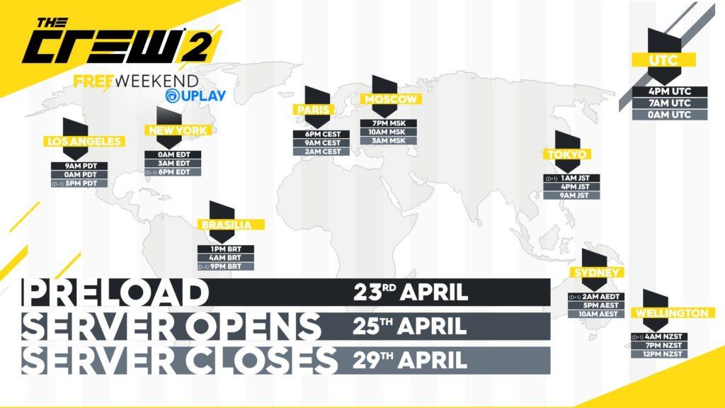 Zahrajte si od zítřka zdarma plnou verzi The Crew 2 tc2 freeweekend map pc uplay 348639