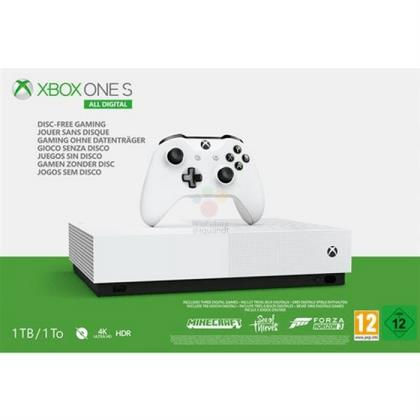 Xbox One S bez mechaniky se má prodávat za 230 euro
