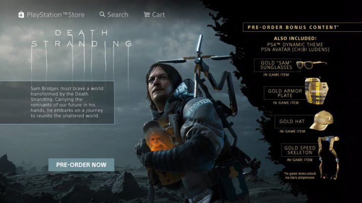 Sony spustila živý přenos lákající na Death Stranding Death Stranding Pre order bonus