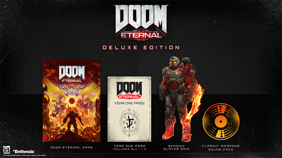 DOOM Eternal bude po vydání podporován singleplayerovým dodatečným obsahem DE Rip Deluxe Edition in