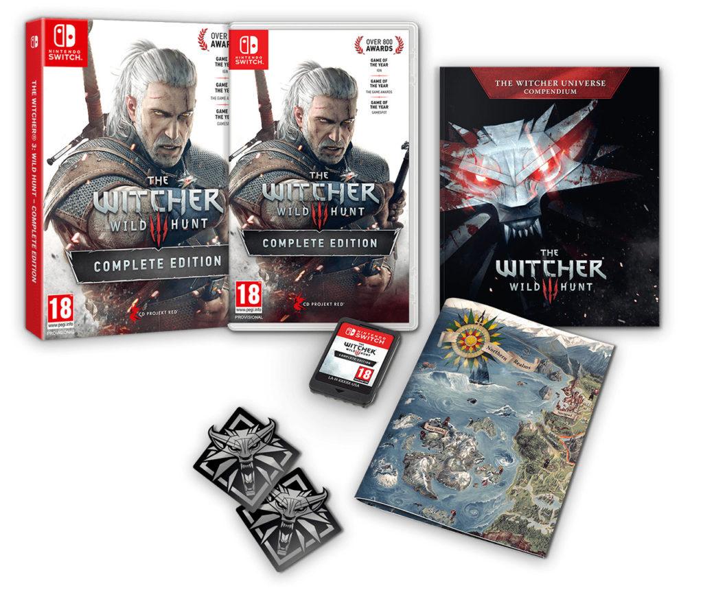 Krabicová verze Zaklínače 3 na Switch nabídne téměř stejné bonusy jako ostatní verze Zaklinac 3 fyzicke vydani