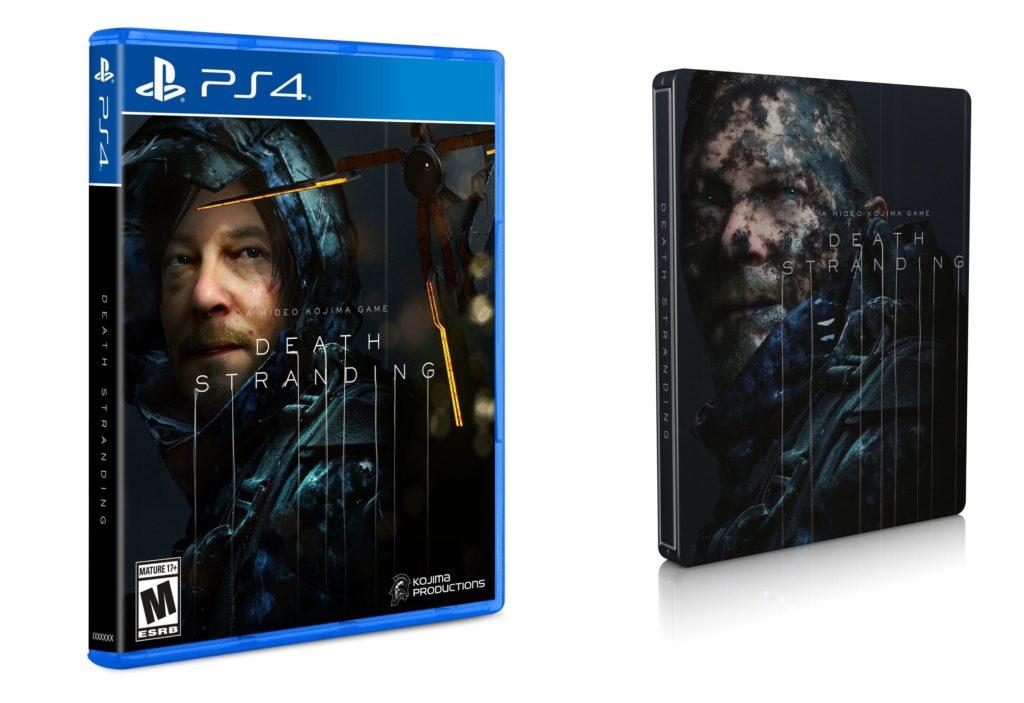 Krabička a steelbook Death Stranding. Chybí zmínka o PS4 exkluzivitě Death Stranding obal
