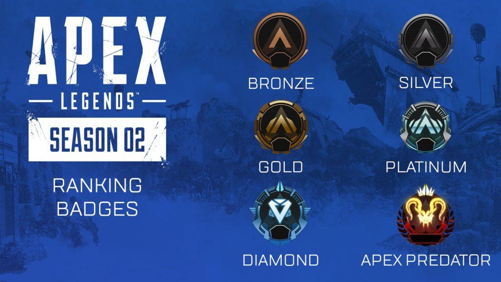 Dnes vychází druhá sezóna Apex Legends RankedLeaguesBadges