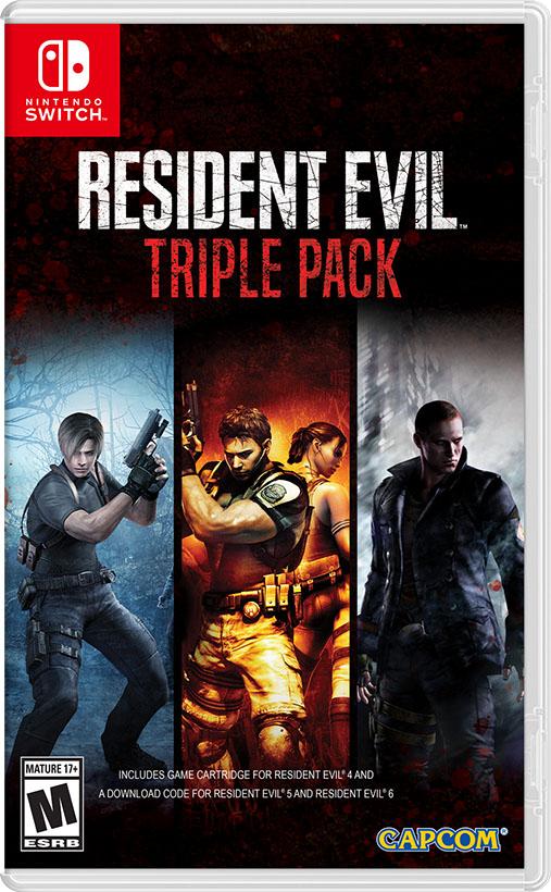 Resident Evil 5 a 6 vyjdou na Switch v říjnu Resident Evil Triple Pack