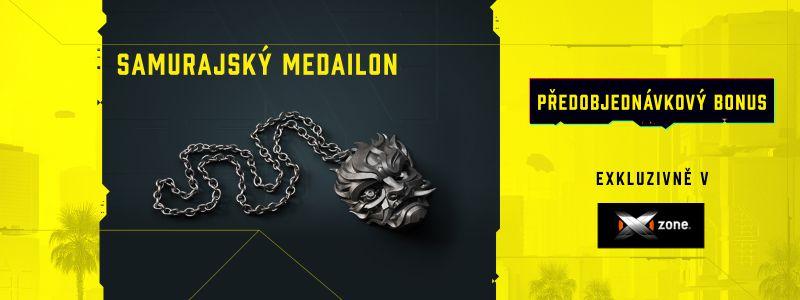 Samurajský medailon k předobjednávce Cyberpunku 2077 Pre Order Xzone1