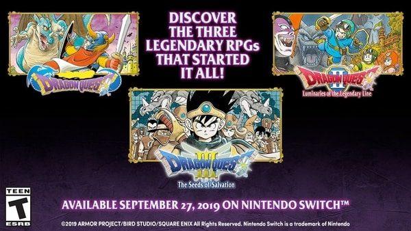První tři díly série Dragon Quest vyjdou na Switchi DQ123 Switch West 09 16 19