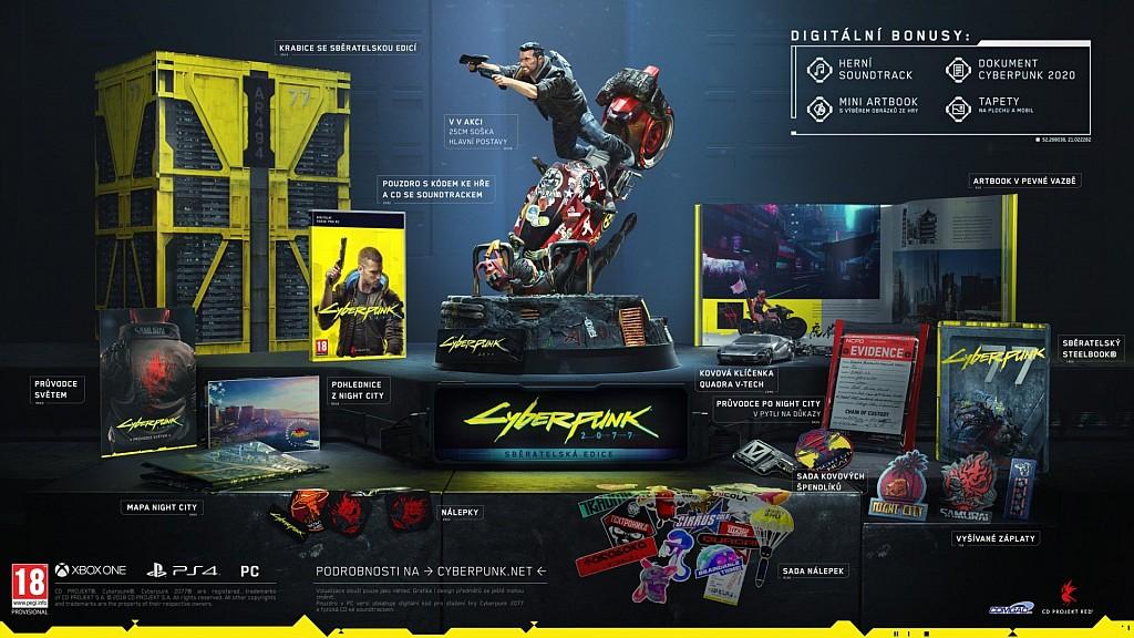 Předprodej sběratelek Cyberpunk 2077 cyberpunklimit