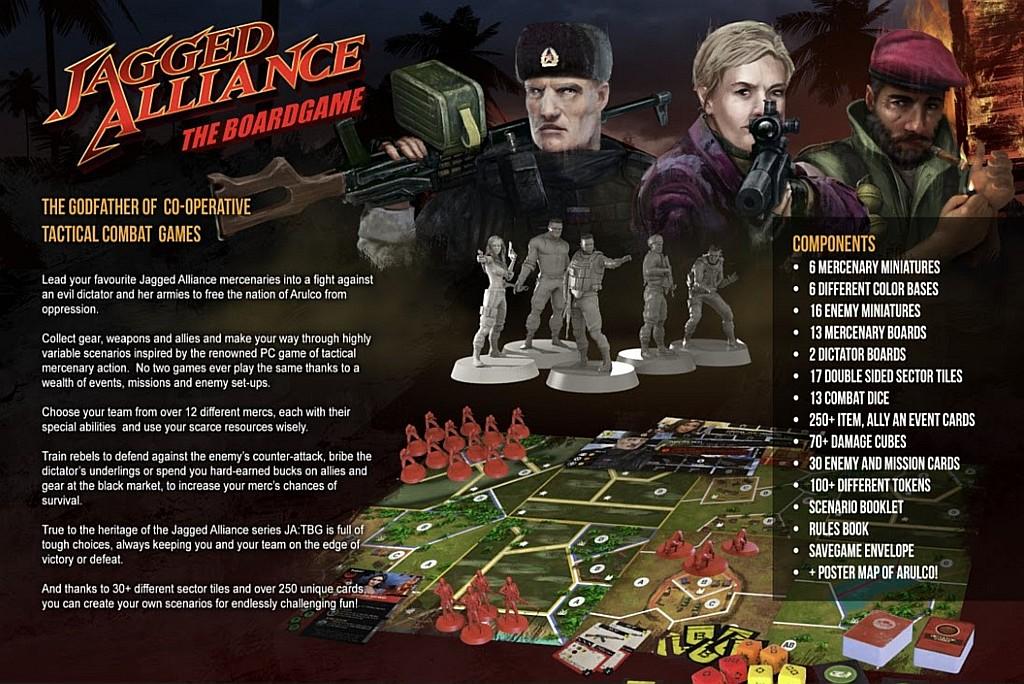 Jagged Alliance – The Board Game jaggedallianceboardback