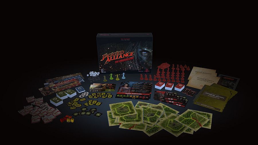 Jagged Alliance – The Board Game jaggedallianceboardlcomp