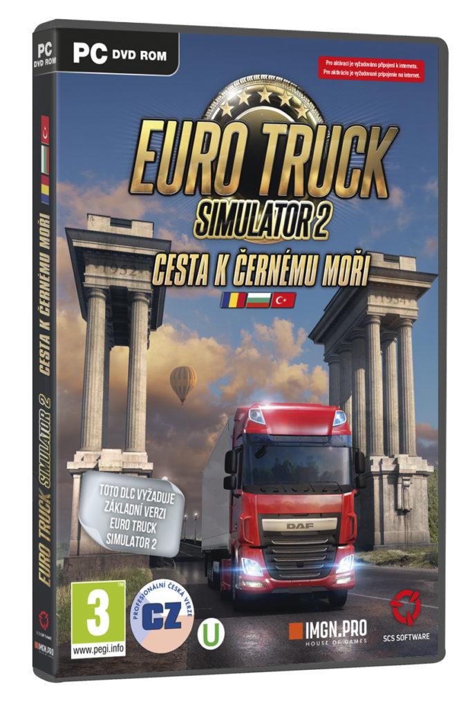 Podrobnosti o datadisku pro Euro Truck Simulator 2 3Dbox ETS Black Sea RGB