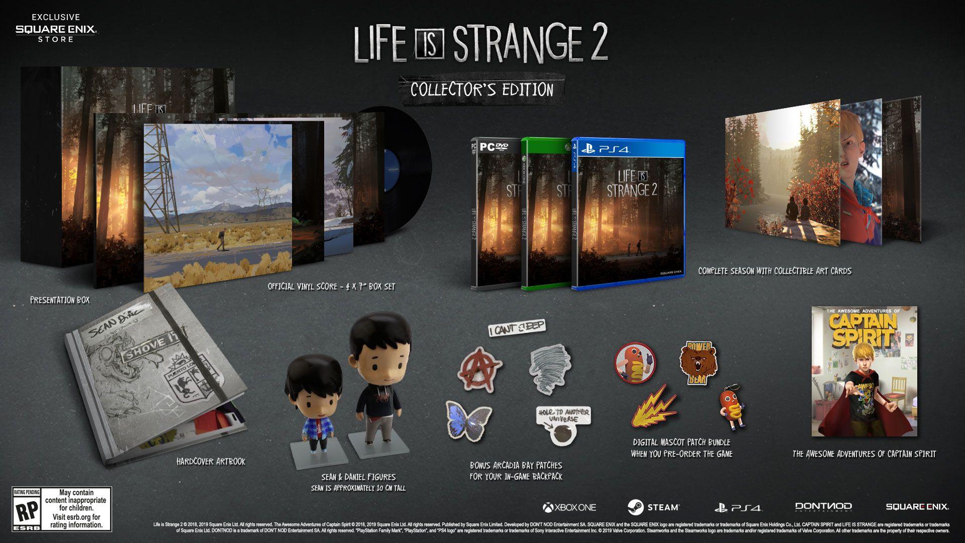 Life is Strange 2 v kompletní edici LiS2 Collectors