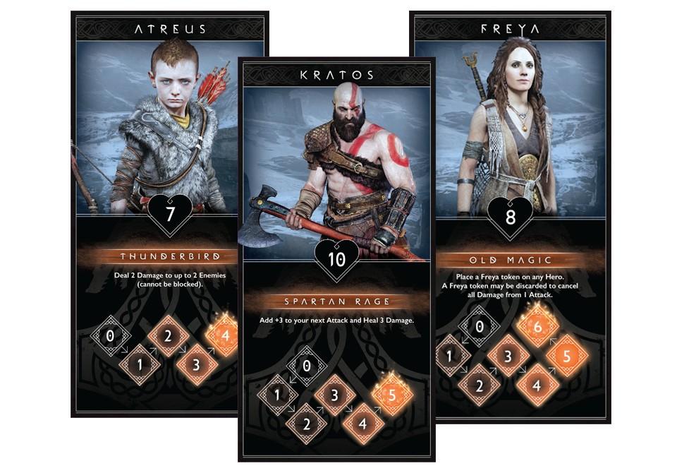 God of War – karetní hra godofwarcardgamechar
