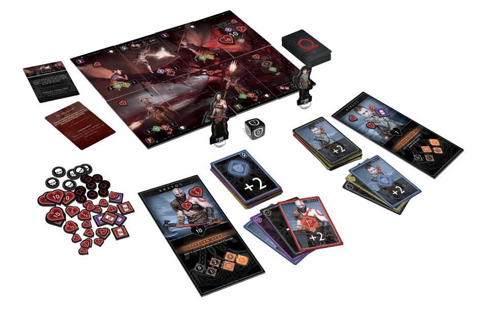 God of War – karetní hra godofwarcardgameplain