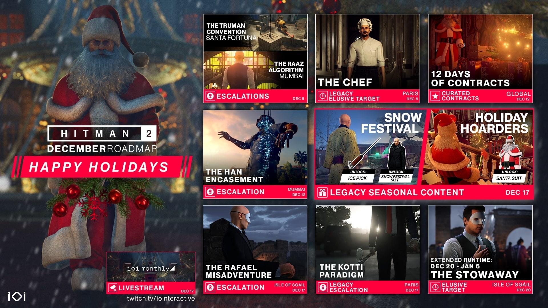 Co se v prosinci chystá do HITMAN 2? This is the final December Roadmap