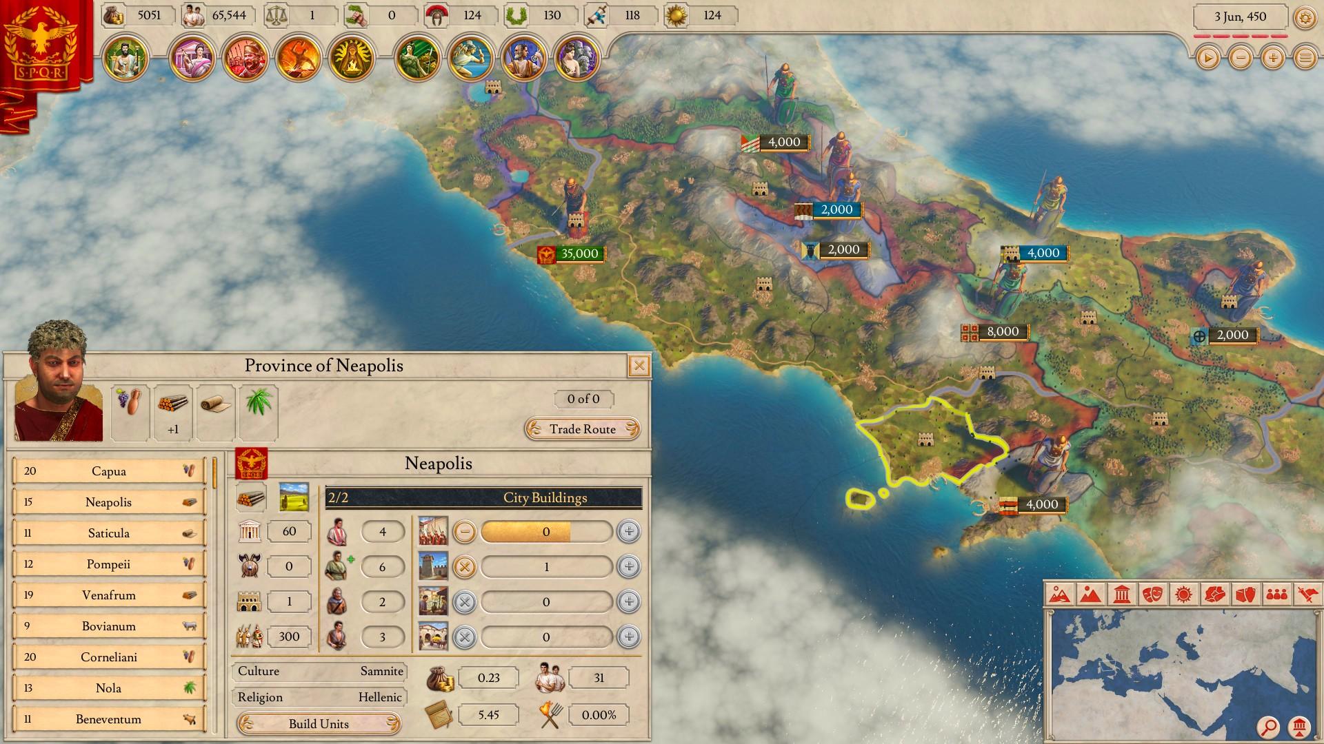 Zahrajte si Imperator: Rome zdarma! imperatorromepunicsc