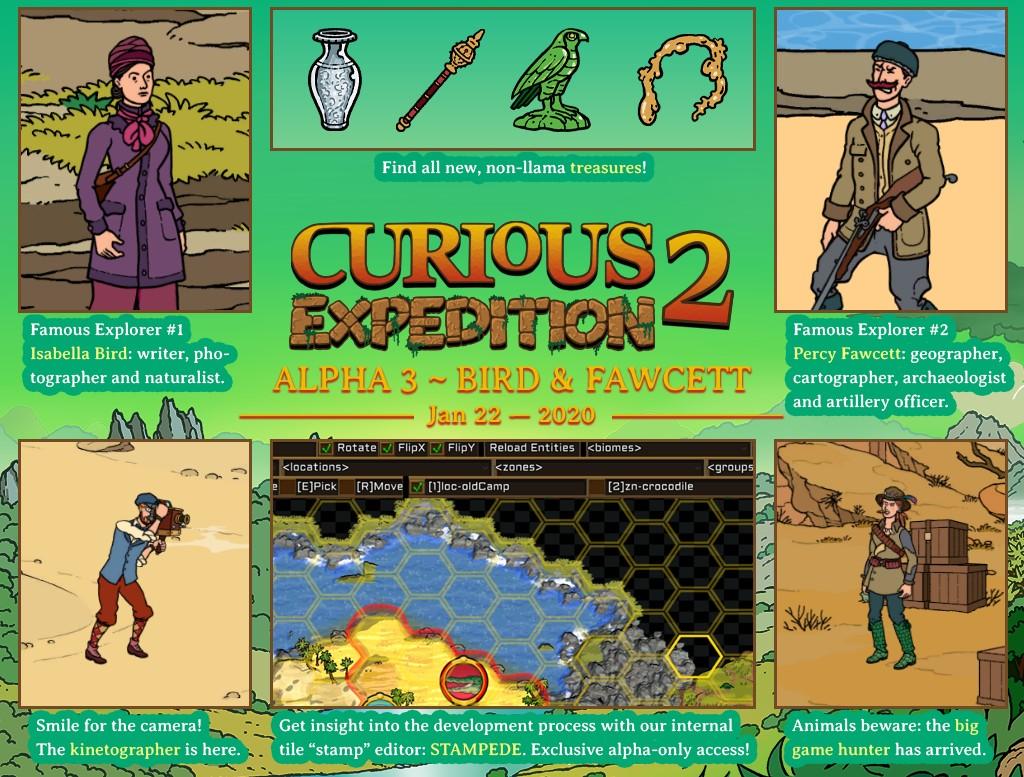 Spuštěna alfa Curious Expedition 2