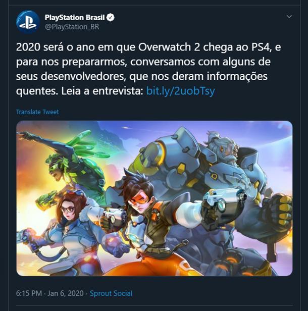 Overwatch 2 zřejmě dorazí již letos overwatch2tweetbr
