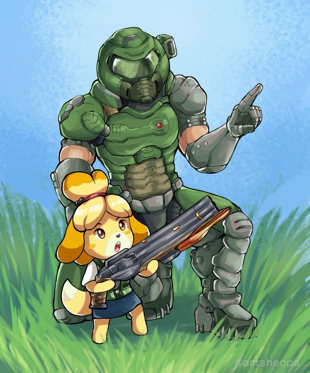 Doom Eternal <3 Animal Crossing ERF3RgTXUAI8QPI